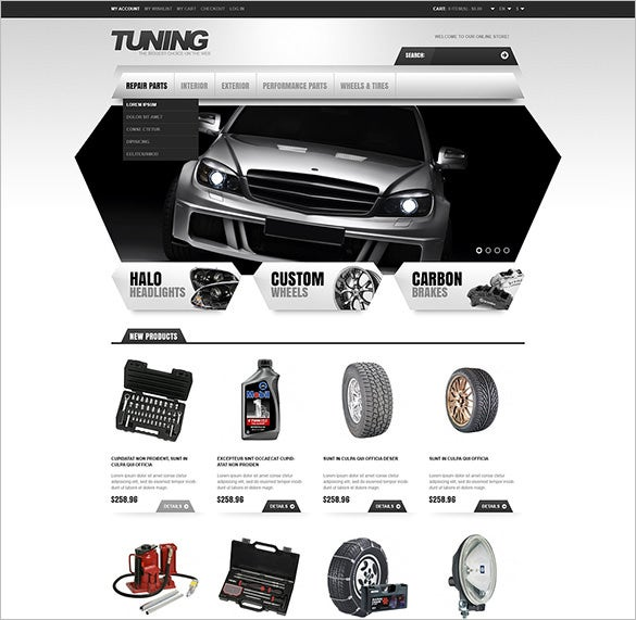 responsive car tuning store magento theme