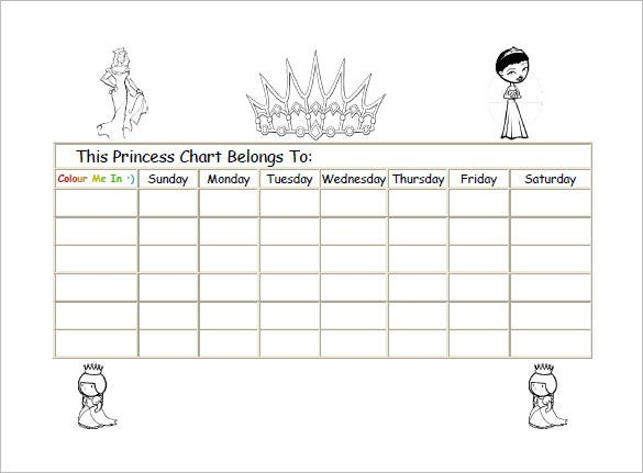 example of prince reward chart free download
