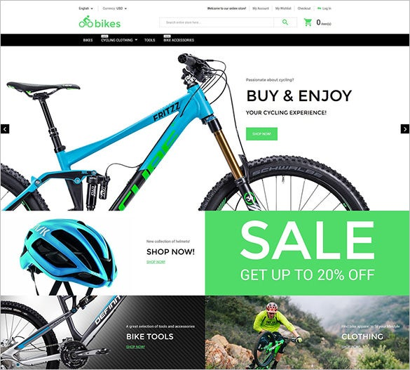 Bike Shop Magento Themes Templates Free Premium Templates - What is car invoice price online bike store
