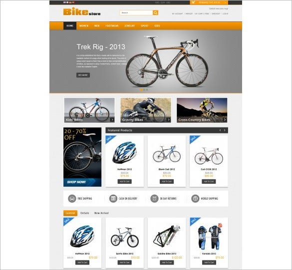 amazing bike magento theme
