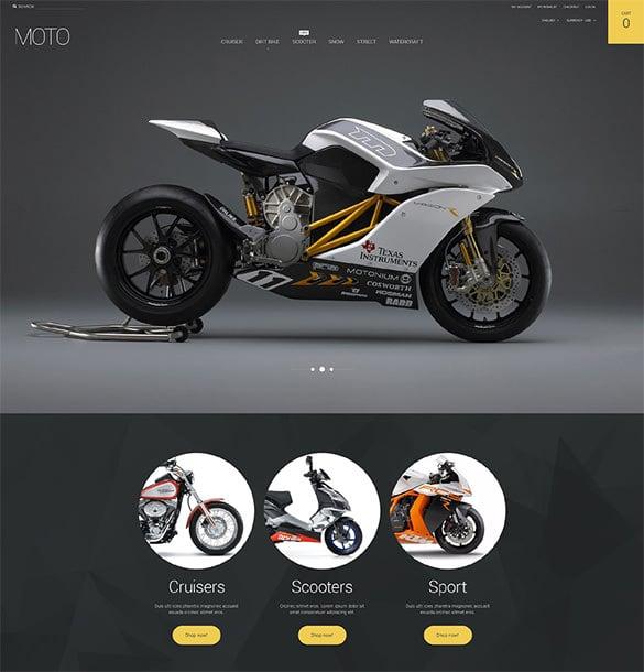motorsports store magento theme