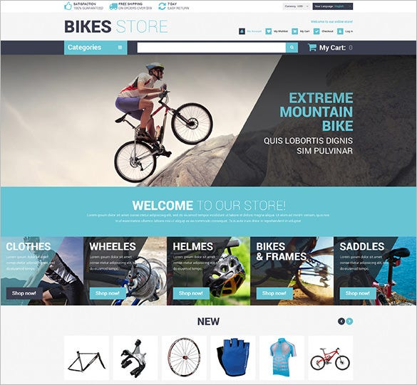 10 bike shop magento themes templates free premium templates. Black Bedroom Furniture Sets. Home Design Ideas
