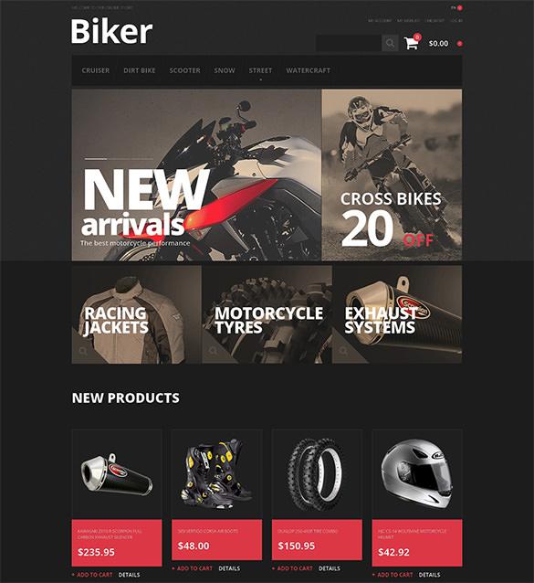 bikers store magento theme