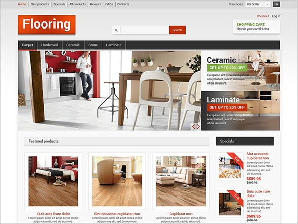 flooring interior design zencart template