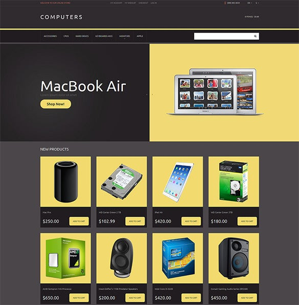 computer store responsive magento template