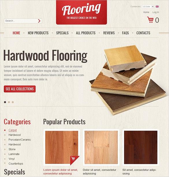 hardwood flooring zencart theme