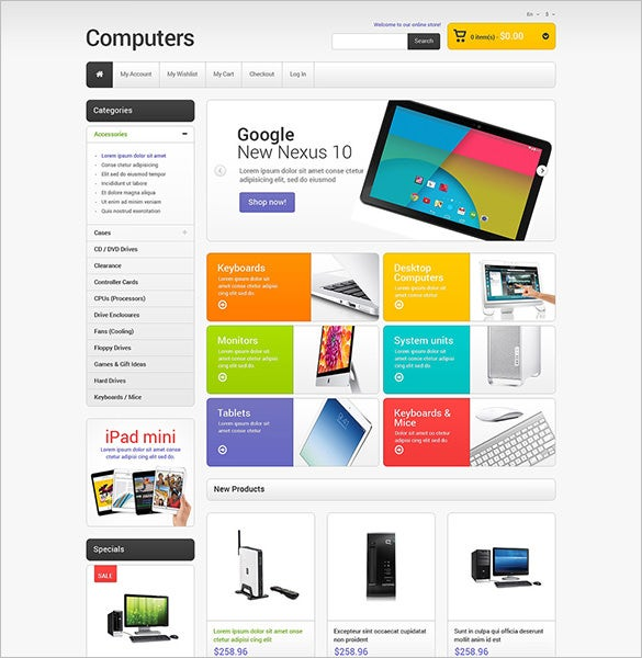 responsive magento theme for computer store