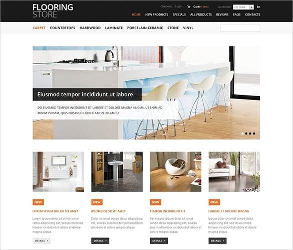 premium floorstore flooring zencart template