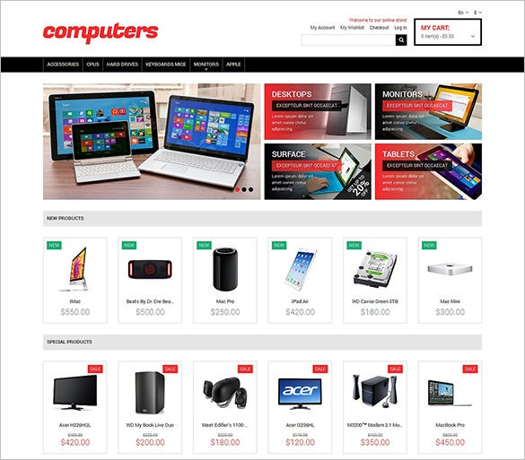 15 computer store magento themes templates free premium magento responsive theme computer store pronofoot35fo Gallery