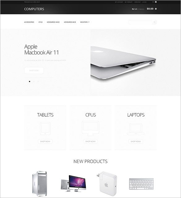 computers store magento theme