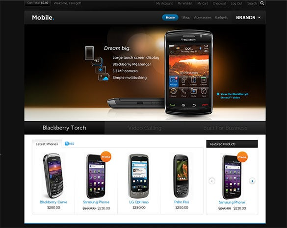 mobile store magento theme
