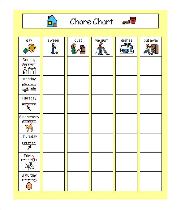 14 family schedule templates word pdf free premium for House chore schedule template
