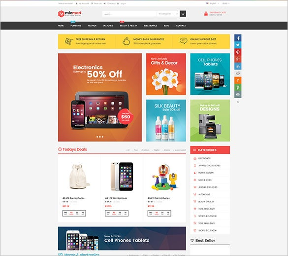 micmart mobile store responsive magento theme