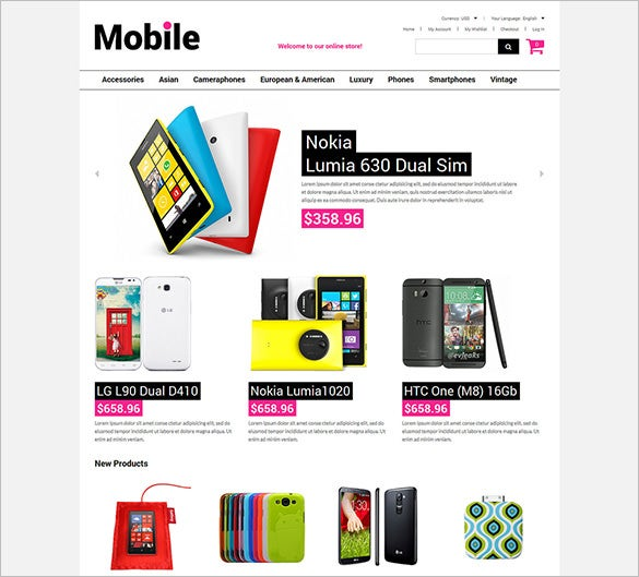mobile stuff magento theme