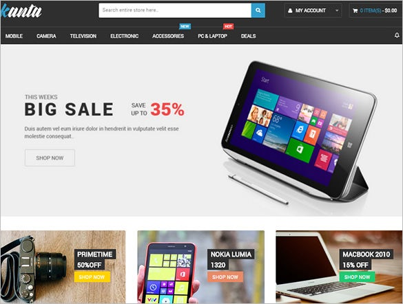 mobile store responsive magento template