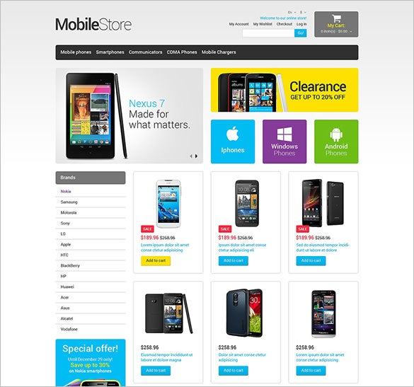 amazing mobile store magento theme