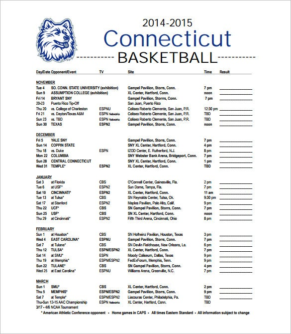 12 basketball schedule templates samples doc pdf for Basketball tournament program template