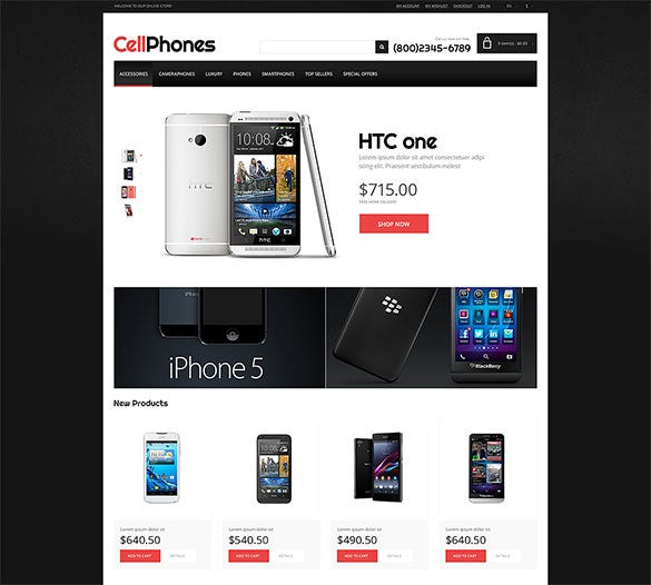 magento theme for mobile store