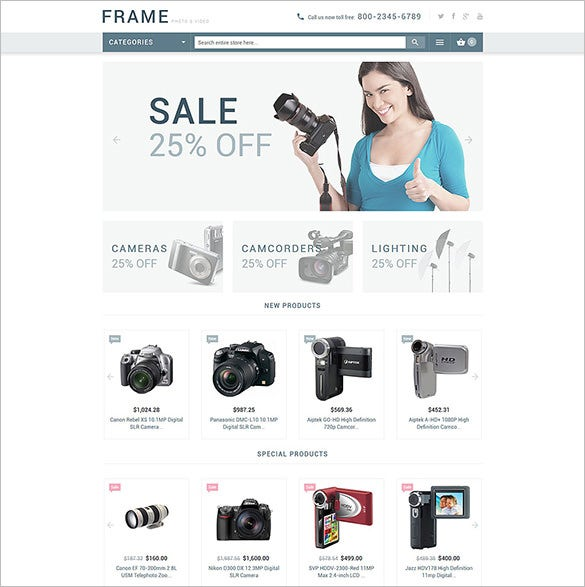 vedio recording equipment magento theme
