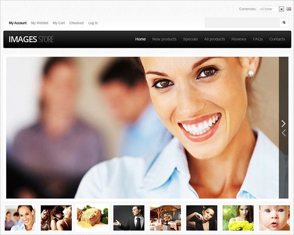 perfect image store photography zencart theme