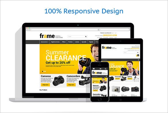 responsive theme for photo and video equipment