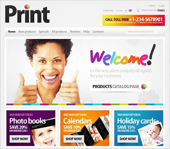 print shop photography zencart template