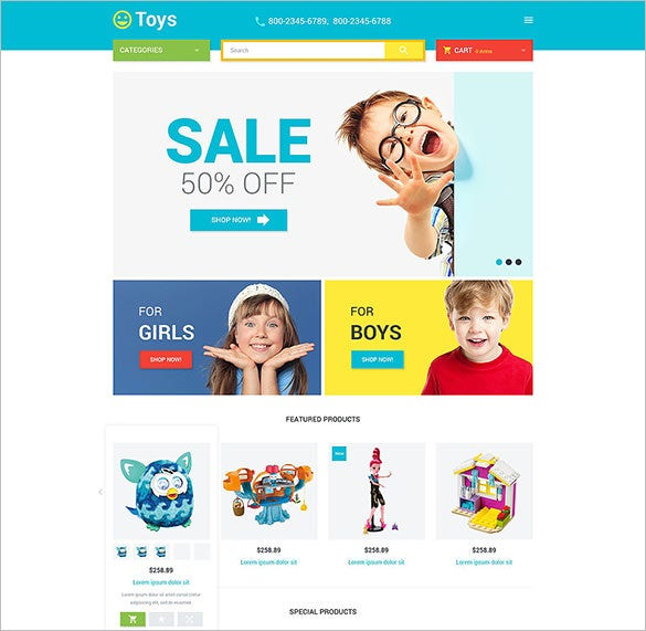 magento theme for toys store