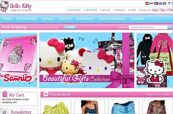 hello kitty magento template