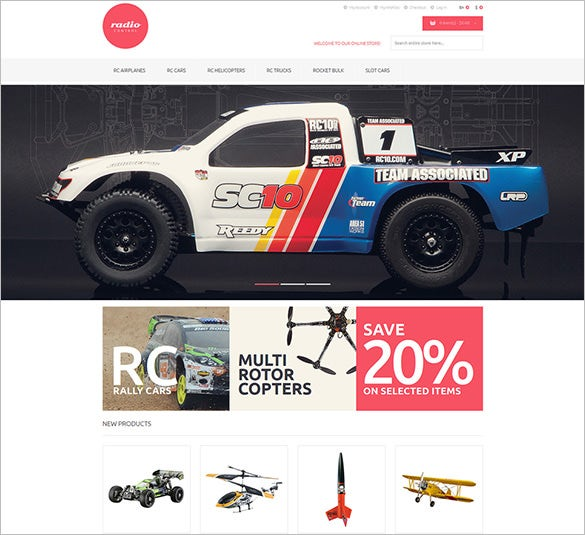 remote controlled toys magento theme