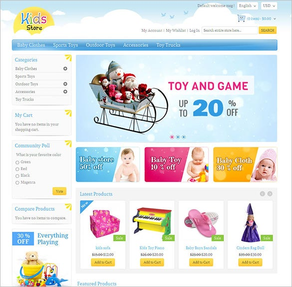 kids store magento responsive template
