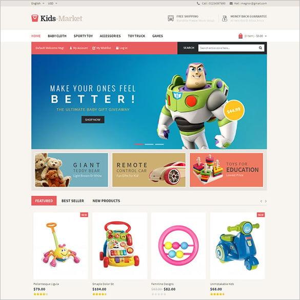 kids market magento responsive theme