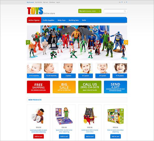 responsive toys store magento theme