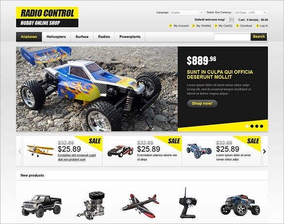 online hobby shop magento theme