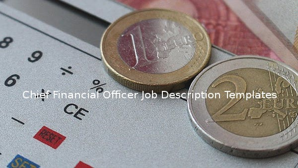10 Chief Financial Officer Job Description Templates