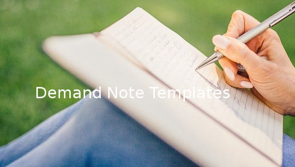 demand note template