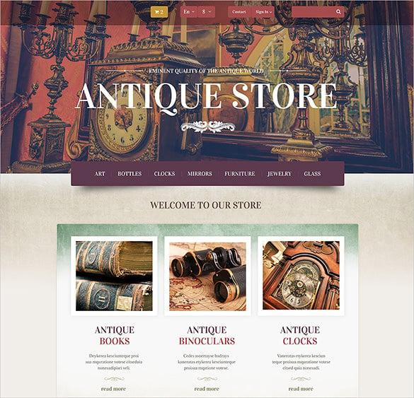 antique store prestashop theme