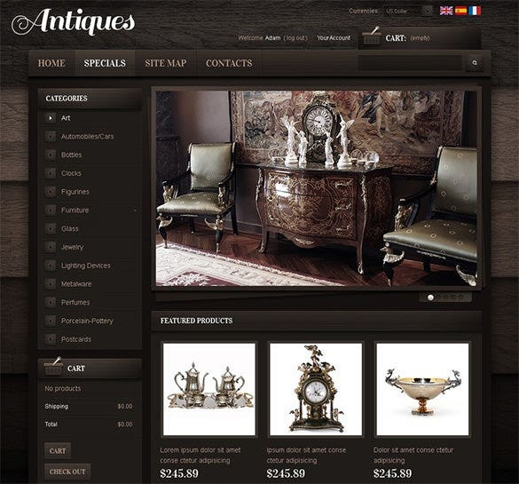 premium antique store prestashop theme