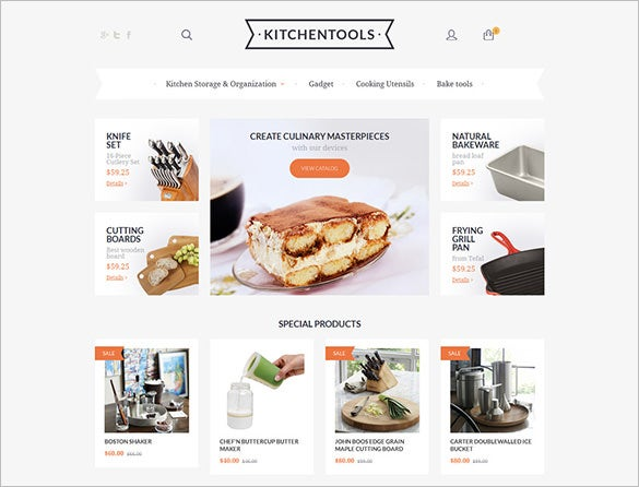 kitchen tools magento theme