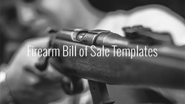 firearm bill of sale templates