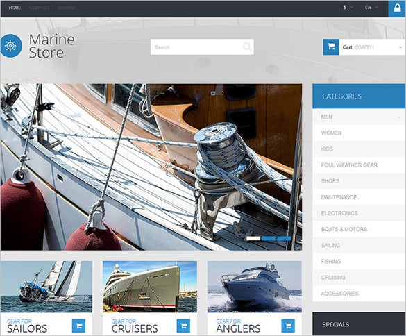 marine store transportation prestashop template