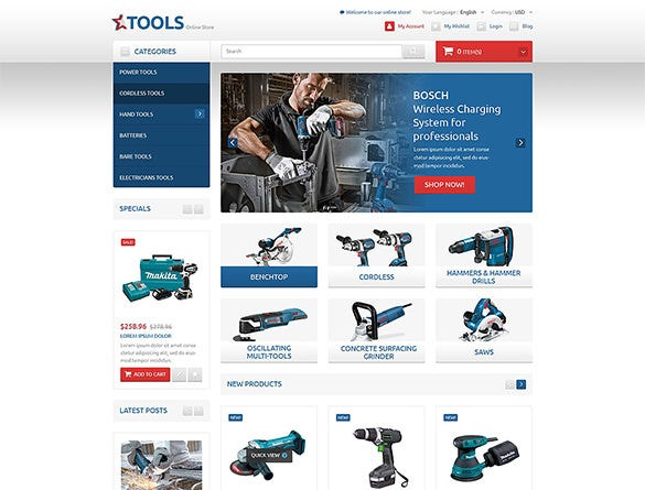 functional tools online shop magento theme