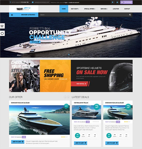 multi purpose transportation prestashop theme