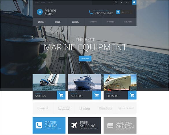 best marine transportation prestashop template