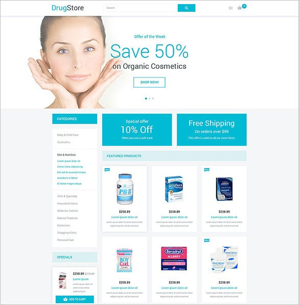 drugs store magento theme
