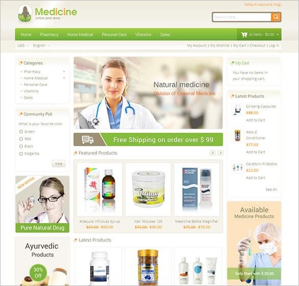 medicine responsive magento theme