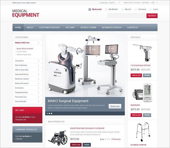 high tech medical equipment magento theme