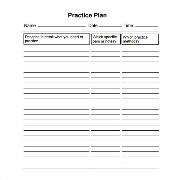 13 practice schedule templates word excel pdf free for Basketball practice planner template