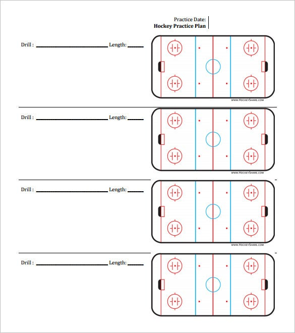 free download hockey practice schedule template pdf