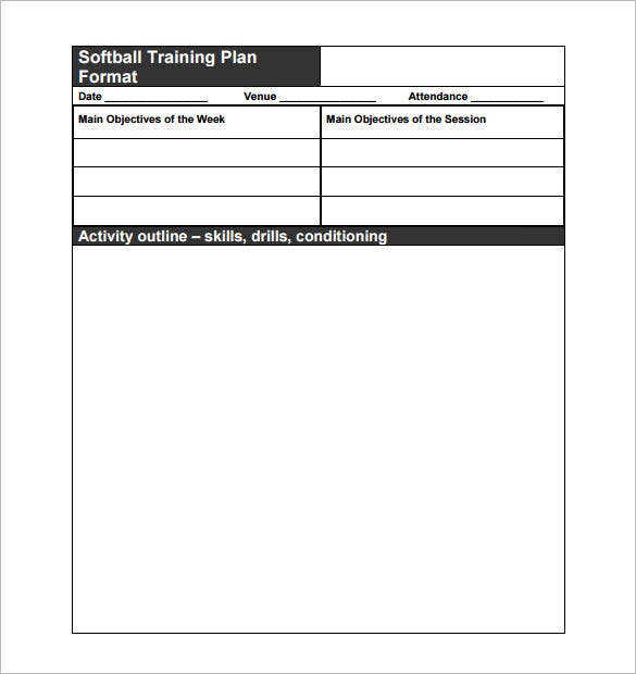 softball training plan practice schedule pdf format