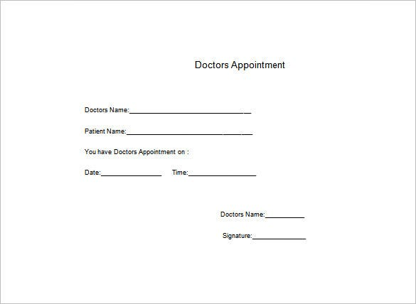 Doctors Note Template   Free Word Excel Pdf Format Download